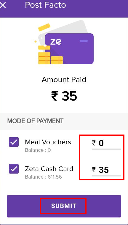 Pay Meal Expenses - Help Center - Learn Zeta Digital Payment
