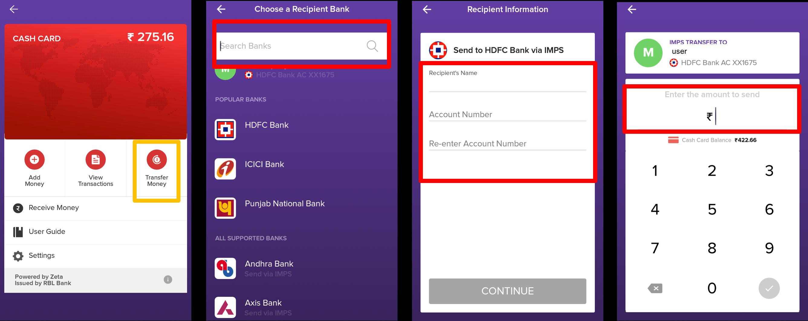 Manage Cash Card - Help Center - Learn Zeta Digital Payment